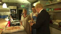 Boris given packet of 'Boris Bangers' at sausage factory