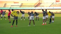 Morocco and Benin train ahead of their AFCON round of 16 clash