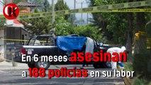 En 6 meses asesinan a 188 policías en su labor