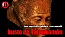 Pese a oposición de Egipto, subastan en GB busto de Tutankamón