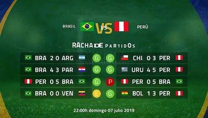 Previa final entre Brasil y Perú Copa América