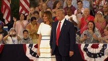 "Critics slam Trump's ""Salute to America"""