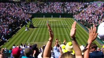 Digitally cleared wrap from the fourth day at Wimbledon