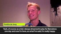 (Subtitled) A smiling Frenkie de Jong speaks aboput his move to Barcelona