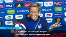 Rapinoe hits out at FIFA over final scheduling
