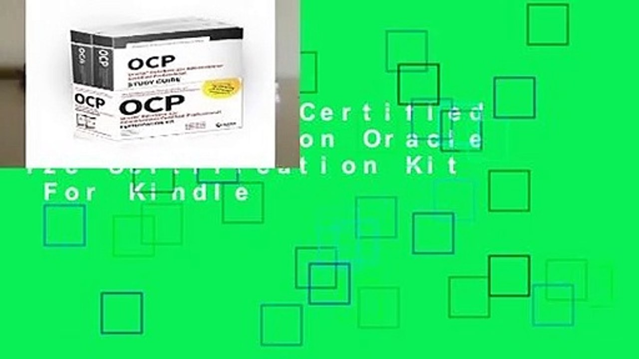 OCP Oracle Certified Professional on Oracle 12c Certification Kit For Kindle