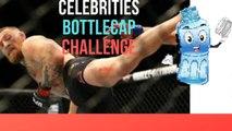 CELEBRITY BOTTLE CAP CHALLENGE COMPILATION!!!!(CONOR MCGREGOR AND JON JONES BOTTLE CAP KICKS?)
