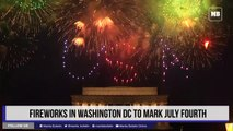 Fireworks in Washington DC to mark July Fourth