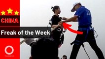 Teenagers in a freezer and a Mortal Kombat girl | China Freak of the Week