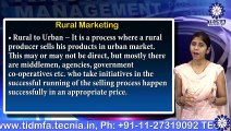 Ms. MONIKA AGGARWAL  || Rural marketing  || MBA || TIAS || TECNIA TV
