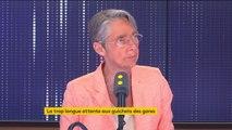 """Attente aux guichets SNCF : """"Manifestement, l'affluence a été sous-estimée"""", reconnaît la ministre des Transports, Elisabeth Borne."""