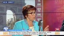 """Christiane Lambert (FNSEA): """"80% des viandes dans les cantines sont des viandes importées"""""""