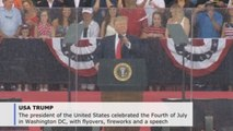 Trump speaks at controversial July 4th event