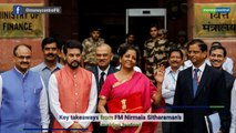 Budget 2019 | Key takeaways from FM Nirmala Sitharaman's speech