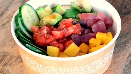 C´ómo hacer un poke bowl