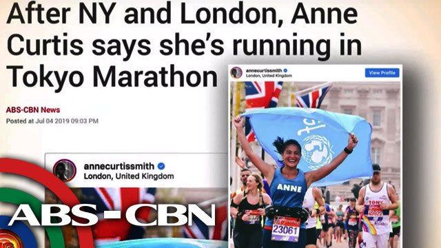 Anne Curtis, sasali sa 2020 Tokyo Marathon | UKG