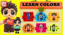 Learn Colors with RALPH BREAKS THE INTERNET Characters Vanellope TOYS