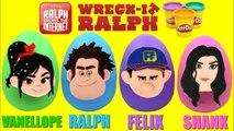 HUGE EGGS Surprise Toys with RALPH BREAKS THE INTERNET Vanellope, Shank - Felix