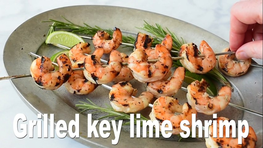 Grilled key lime shrimp