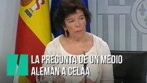 La pregunta de una periodista alemana sobre Podemos que ha dejado a Celáa con esta cara