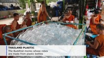 The Buddhist monks whose robes are made from plastic bottles