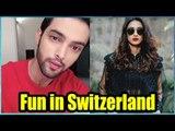 Erica Fernandes and Parth Samthaan having fun in Switzerland