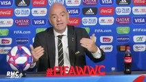 """Coupe du monde (F) : """"Sans VAR, on aurait eu l'air de vieux cons misogynes"""" lance Infantino"""