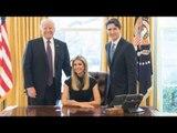 Ivanka Trump se sienta en la silla presidencial y al mundo no le gusta
