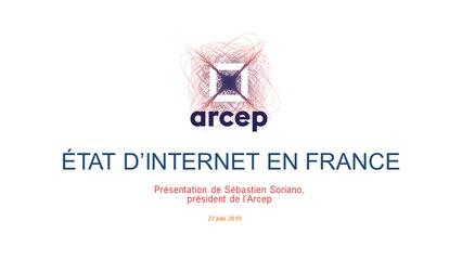 Présentation du rapport 2019 de l'Arcep sur l'état d'internet en France - Introduction de Sébastien Soriano, président de l'Arcep (27 juin 2019)