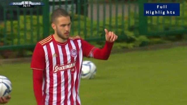 5-0 Lazar Ranđelović AMAZING pass and Konstantinos Fortounis Goal - Olympiakos Piraeus 5-0 Jagiellonia - 05.07.2019