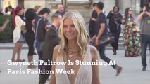 Gwyneth Paltrow Stuns At Paris Fashion Week
