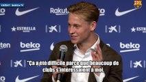 Frenkie de Jong explique à quel moment il a choisi le Barça
