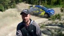 Rally - Jason Brown se filme devant une Subaru - US