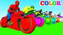 Comptines Bébé - Dessin animé pour enfant avec motos et voitures colorées