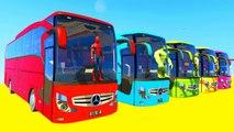 Voitures Dessin Animé pour Enfants avec Bus et drôle Comptines Bébé