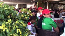 Morocco fans watch their team lose to Benin in a penalty shootout in the AFCON round of 16