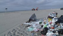 Major beach cleanup across the country after 4th of July