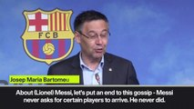 (Subtitled) 'Messi doesn't sign players' - Barcelona president dismisses speculation