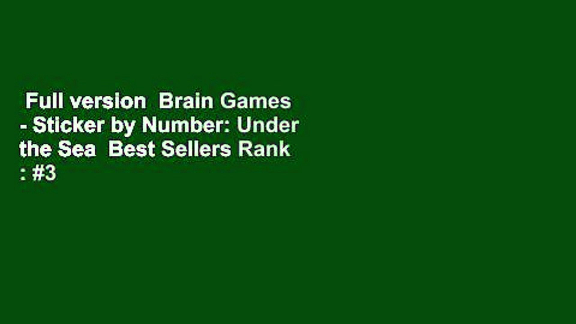 Lower Your Brain Age in Minutes a Day Brain Games #3