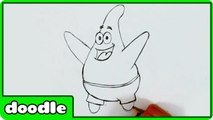 How to Draw Patrick from Spongebob Squarepants Step by Step - Easy Drawing Tutorial