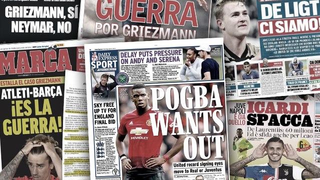 La Juve et le Napoli se livrent bataille pour Mauro Icardi, les déclarations de Mino Raiola sur Paul Pogba font grand bruit en Angleterre