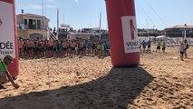Le départ du Vendée raid Open sur la plage de Tanchet