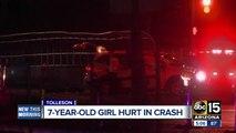 7-year-old girl hurt in Phoenix crash
