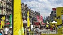 Les Bruxellois profitent du fan park du Tour de France(vidéo)