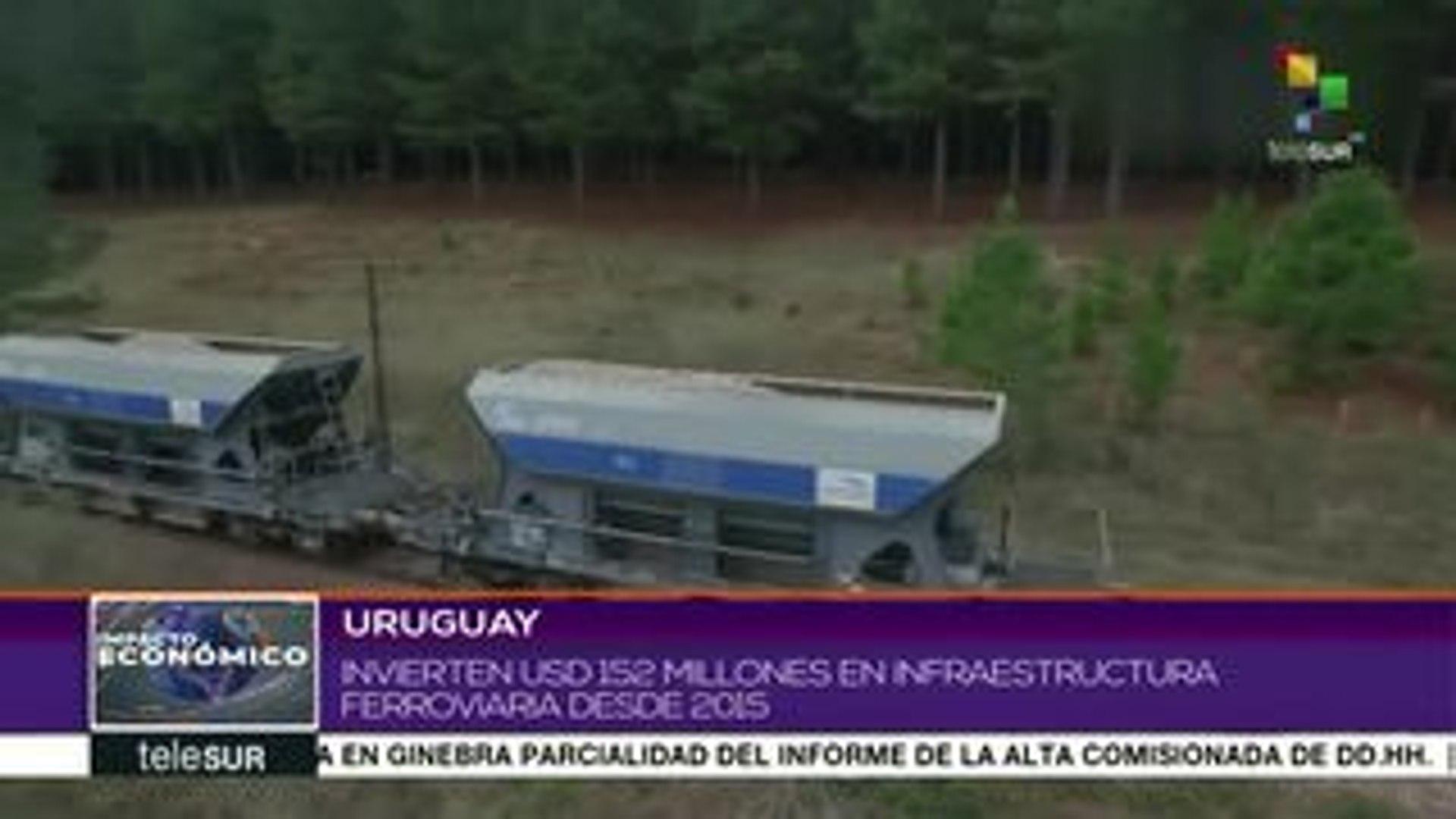Uruguay invirtió 152 mdd en infraestructura ferroviaria desde 2015