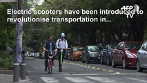 Electric scooters zip into Latin America's traffic chaos