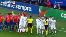 Gary Medel and Lionel Messi got red cards for scuffle