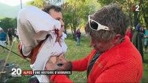Alpes : des chercheurs équipés d'armures