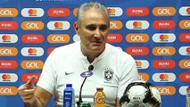 Tite and Alves speak ahead of the Copa America final against Peru