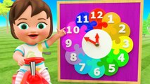 Wooden Clock Color Numbers 3D Kids Education Little Baby Girl Learning Numbers for Children
